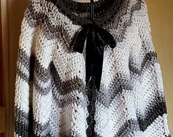 My way pierrot Moon jacket vest handmade crochet