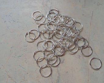 Silverhoop clear, open, without nickel. 10mm