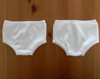 Garment, 2 small panties compatible doll Raynal 50 cm