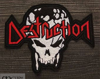 Patch Destruction logo Trash Black Metal