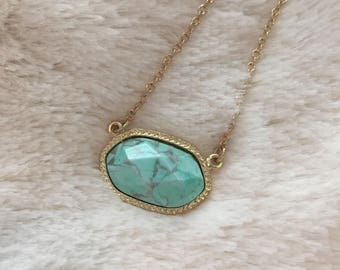 Mint Quartz Kendra Scott Inspired Necklace