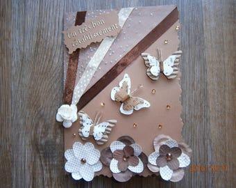 """""""Very well"""" card, flight of musical butterflies"""