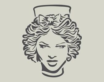 Stencil Tanit goddess Ibiza (ref 763)
