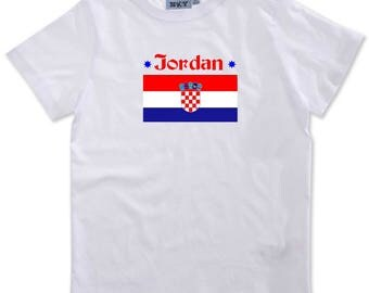 Serbia boy personalized with name t-shirt