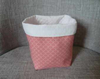 pastel colors and patterns Japanese storage basket