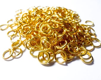 100 jump rings 6mm antique gold color (ref SFAD02)