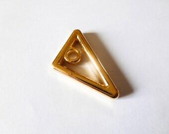 2 charms 19 * 25 mm triangle geometric metal Golden (SFBD04)
