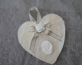 Heart shabby chic scented