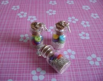 Glass jars mini-buttons + non pareils