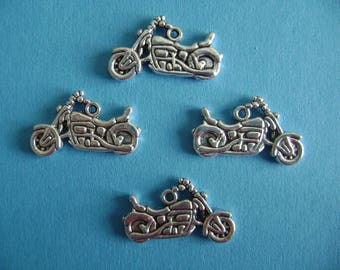 """Silver colored """"motorcycle Harley"""" charms"""