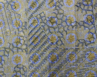 """Wax fabric coupon - African fabric """"Graphic"""" - 58 X 47 cm"""