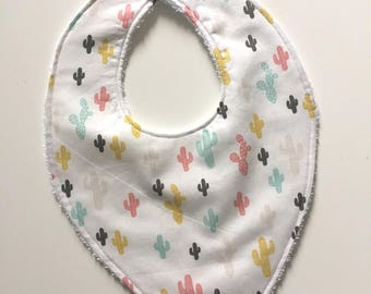 Baby cotton and Terry snap bib