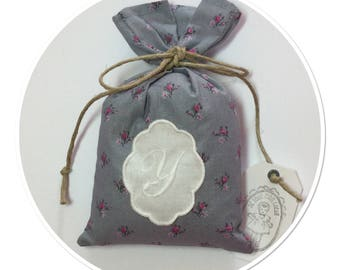 SACHET of lavender with Monogram Letter (Y) in Locket