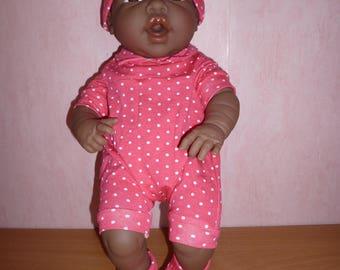 Set for baby (reborn) newborn Bayer 42 cm pink polka dot white ref: 11718287