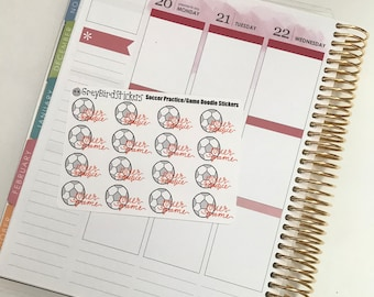 Soccer Game/Practice Stickers for Planners, Journals and More!