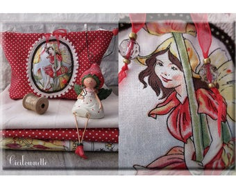 Tidy red quilted fairy polka dot fabric