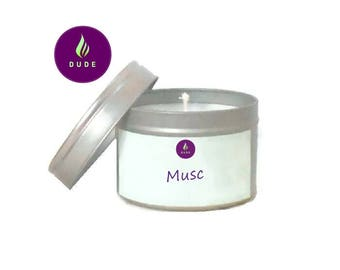 Vegetable wax, natural candle, candle personalized musk scented Vegan candle,