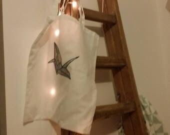 Tote bag white origami