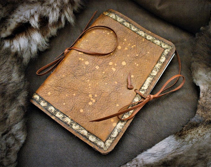 Embossed leather diary cover diary midori fauxdori notebook diary 15X10cm booklet