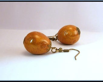 Earrings with polymer clay Easter egg.