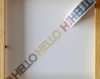 "Masking tape - pattern ""HELLO"" - 1.5 cm x 10 m"