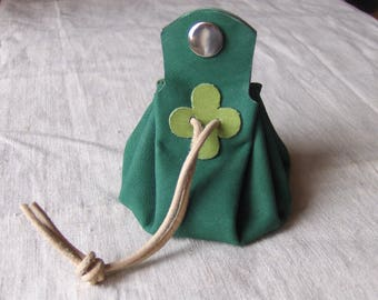 Purse is Mint green leather with green clover