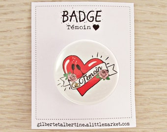 "Badge witness 3.8 cm / ""Tattoo"""