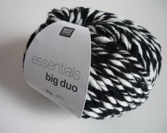 Wool Essentials Big Duo Rico 008 black/white Design