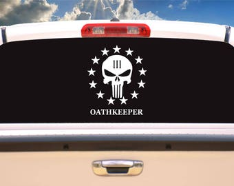 Oathkeeper punisher decal, skull decals,skull stickers,car decals,stickers,car decal,cool stickers,vinyl decals,vinyl stickers,decals