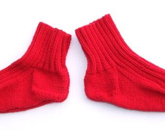 Hand knitted wool socks