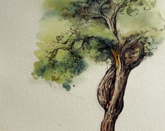 A universe... inspired by a tree 4 watercolor painting