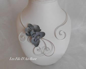 LILAE necklace Orchid grey