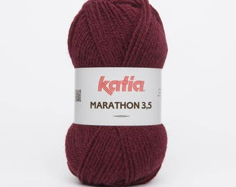 Marathon 3.5 wool Burgundy (22) Katia - ball 50 gr