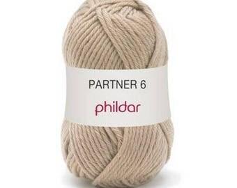 phildar wool partner wool 6 camel colors