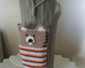 """"" phone case or camera, ""i bear"", crochet"