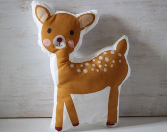 Deer baby shaped pillow