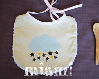 cloud blue and yellow bib