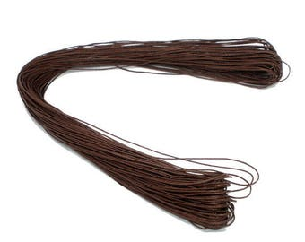 set of 10 m Brown cotton cord 1 mm