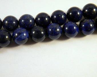 2 splendid Pearl lapis lazuli 12 mm LL9