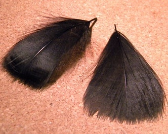 30 natural feather - 7 to 9 cm-black - 91 PLU