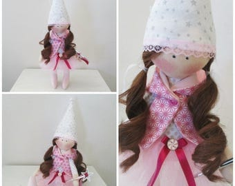 Doll fairy curly long hair