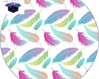 Feather 1 glass cabochon 20mm theme