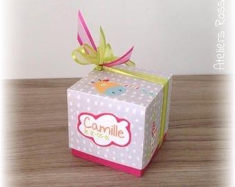 Box square cube giraffe for sweets
