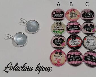 """Earrings """"love Grandma"""" by lolaclarabijoux"""