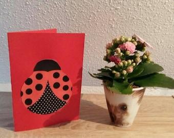 Handmade Ladybug card