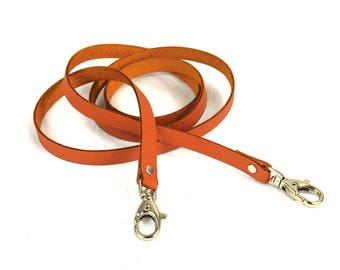Thin leather strap Orange lobster
