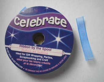 Ribbon in blue nylon material