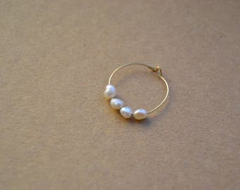 Ring style Navy freshwater pearls