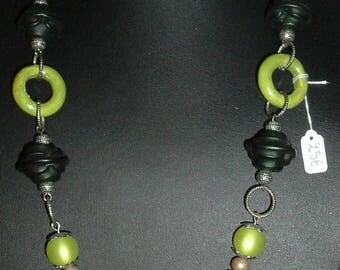 "Necklace ""Flower"" green and lime"
