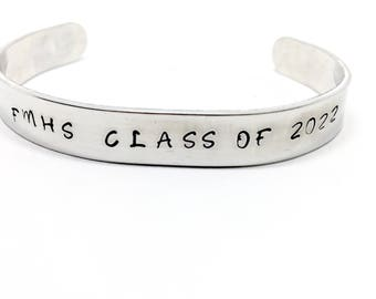 Customizable Bracelet, Graduation Goals, Inspirational, Secret Message, Senior Gift, Customized Jewelry - Class of 2017 2018